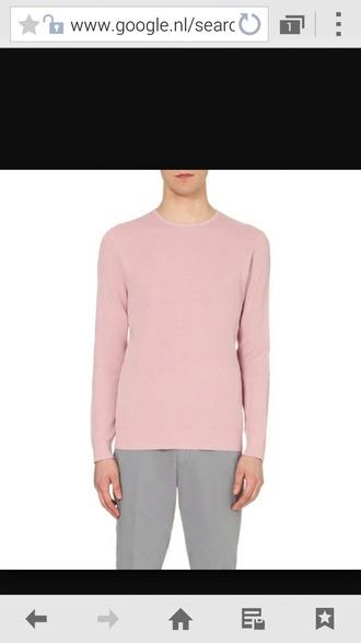 sweater light pink pink sweater wool sweater