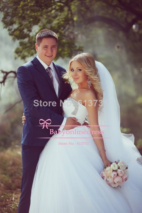 Aliexpress.com : buy 2014 designers new arrival princess sweetheart crystal wedding dresses ball gown tulle with lace up back from reliable dress unique suppliers on suzhou babyonline dress store