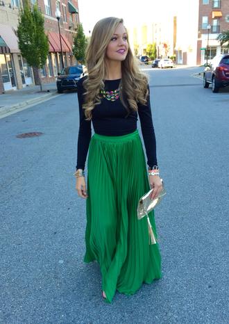 skirt accordion skirt pleated skirt emerald green dress attending a wedding