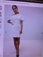 dress,white,size 8,asos