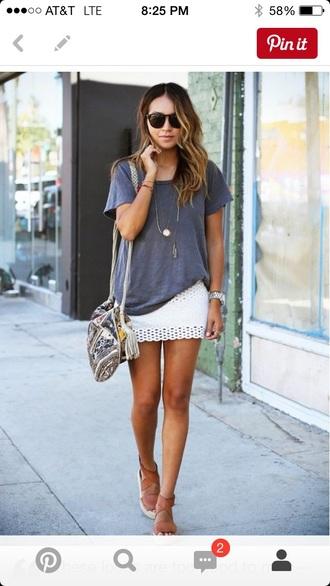 skirt whit skirt mini skirt