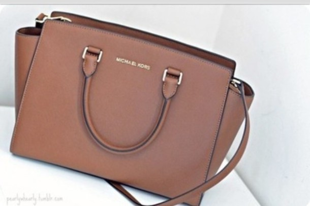2f8c59a9e03c bag, michael kors, beige, brown leather - Wheretoget