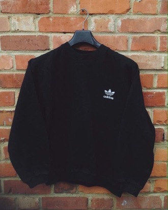 sweater black adidas