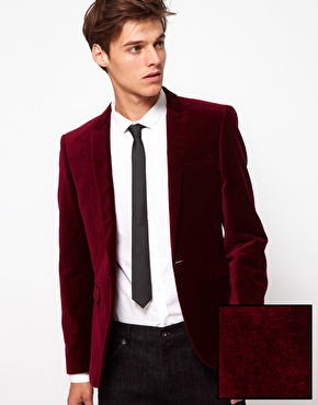 ASOS | ASOS Slim Fit Blazer in Velvet at ASOS