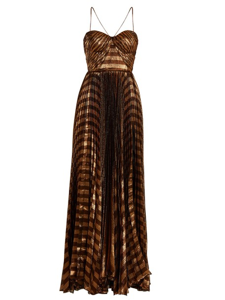 Maria Lucia Hohan gown pleated copper dress