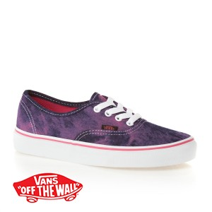 Vans Authentic Shoes - (Acid Denim) Pink | Free UK Delivery
