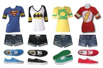 outfit vans comics batman yellow green