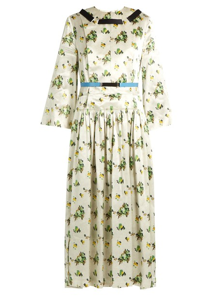 Toga dress satin dress floral print satin