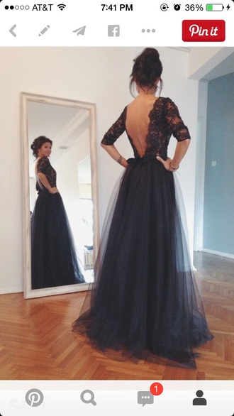 dress tutu dress black dress backless dress lace dress prom dress prom gown