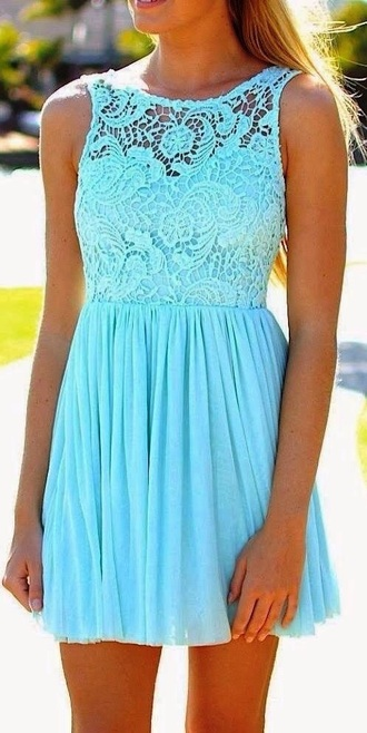dress tiffany blue lace dress