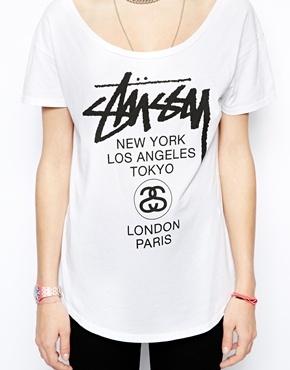 Stussy | Stussy T-Shirt With World Tour Logo Exclusive To ASOS at ASOS