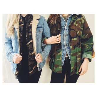 coat tumblr pretty love adorable camo tumblr outfit camo jacket
