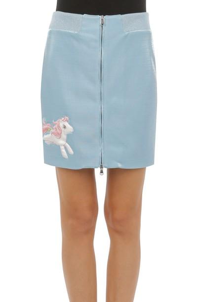 skirt light blue light blue