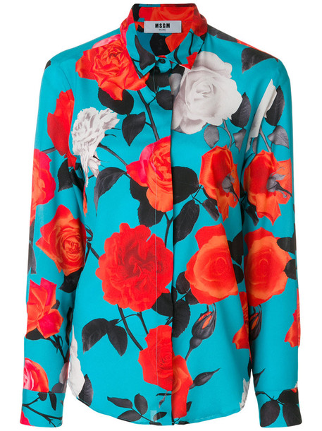 MSGM shirt women floral print top