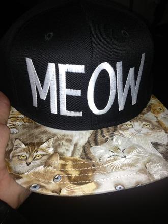 hat snapback cats meow emblem3 harry styles singer singing celebritie celebrity sad happy nothing black white grumpy cat brown hippiw hippie emo hipster