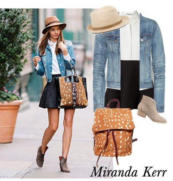 miranda kerr bag skirt model victoria's secret model