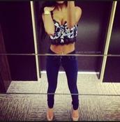 top,crop tops,sweetheart neckline,black lace,hella cute,jeans