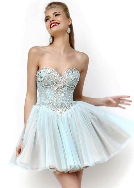 dress homecoming dress beads