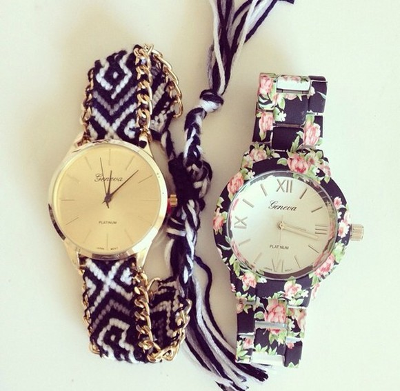 floral cute hair accessories watch jewels fashion style