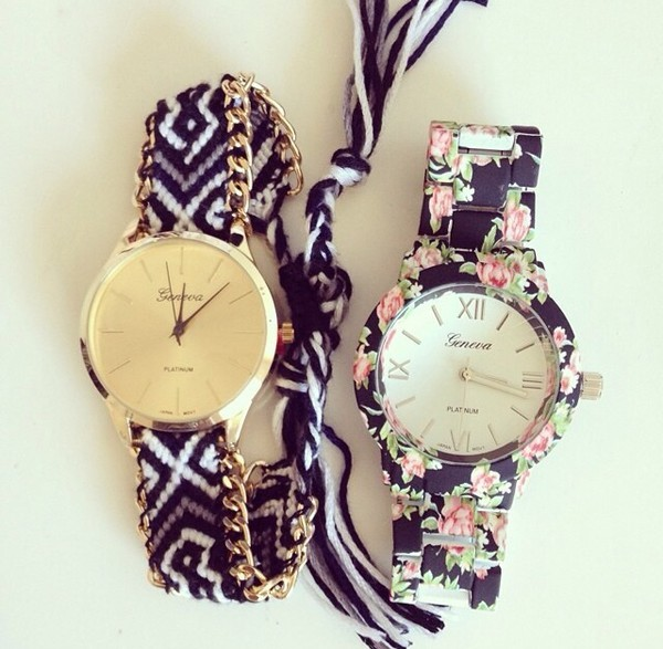 hair accessory watch jewels cute floral fashion style geneva