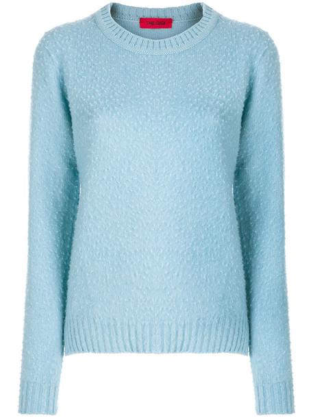 The Gigi jumper women blue wool sweater