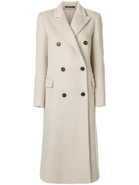 TAGLIATORE coat double breasted women nude wool