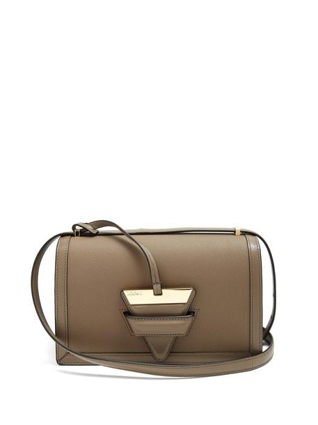 LOEWE bag shoulder bag leather beige