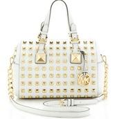 bag,michael kors,white,gold,purse