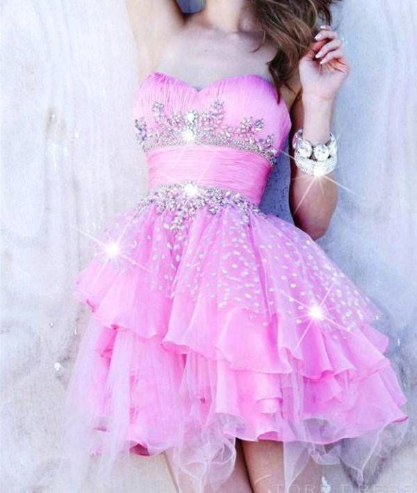 dress ball gown dress pink