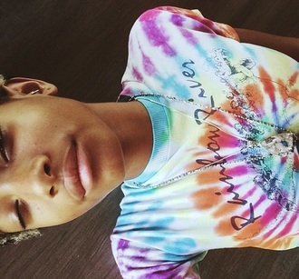 shirt tie dye ranbow river willow smith