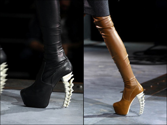 high heels boots skull leather boots dsquared