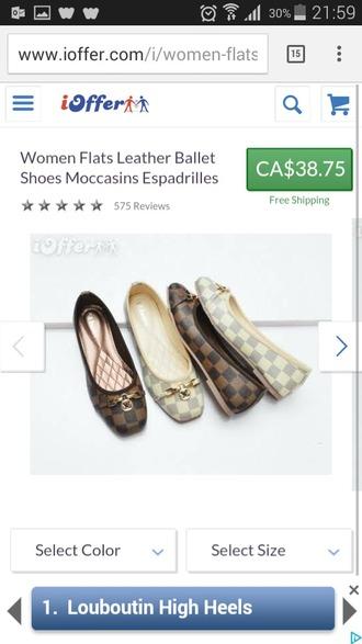 shoes luis vuitton flats