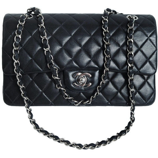 CHANEL PARIS Classic 2.55 Black quilted leather purse - Polyvore