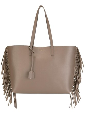 leather nude bag