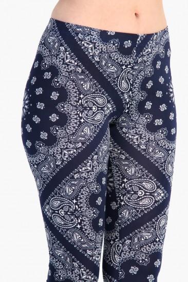 LoveMelrose.com From Harry & Molly | Antique Pattern Leggings - Blue