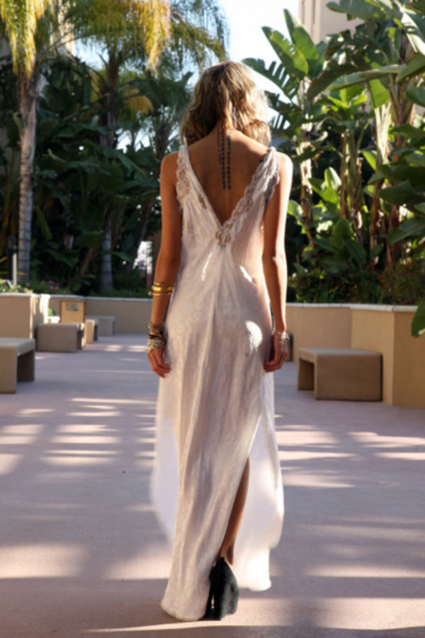 dress white dress bohemian dress boho chic boho backless dress backless white dress maxi dress