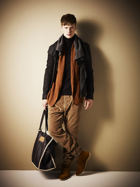 Pants: corduroy, shoes, cardigan, brown pants - Wheretoget