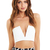 White Rubix V-Front Bustier Crop : Buy Designer Dresses Online at Nookie