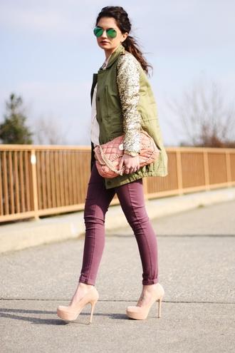 fashionhippieloves coat blouse pants bag jewels sunglasses shoes