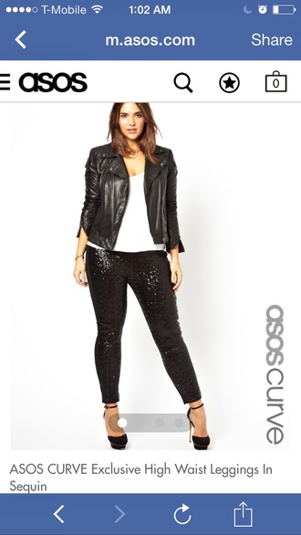pants sequins sequin pants sequined leggings asos plus size high waisted pants black
