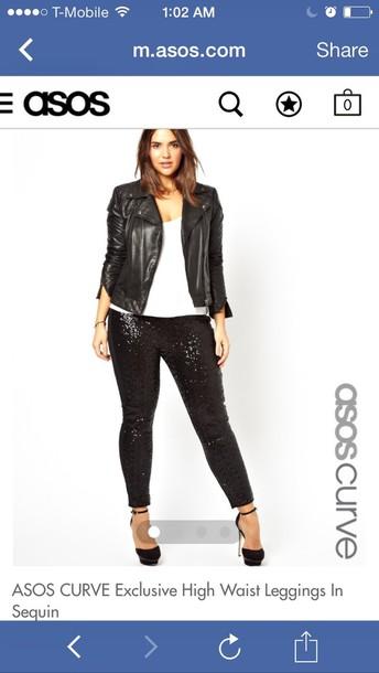 fd90c7beae8 pants sequins sequin pants sequins leggings asos plus size high waisted  pants black