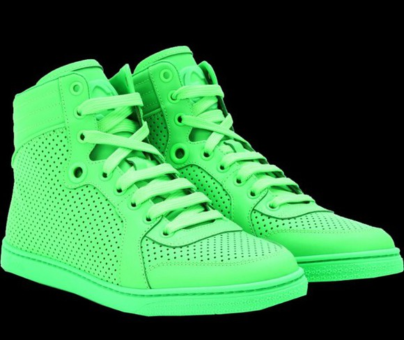 shoes sneakers neon green