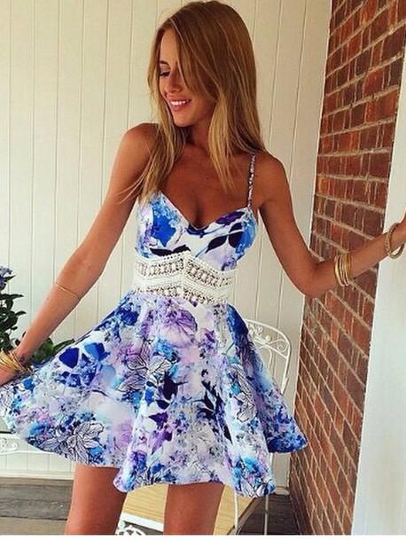 dress blue dress floral dress lace dress