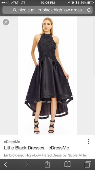 dress black nicole miller black dress