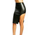 Black Faux Leather Curved Side Cut Out Skirt | Emprada