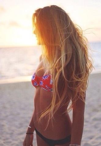 swimwear floral bandeau bikini