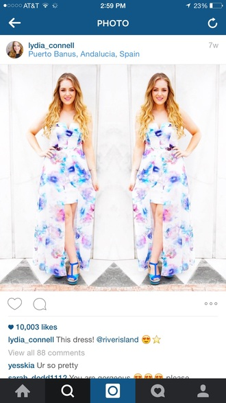 dress floral high low