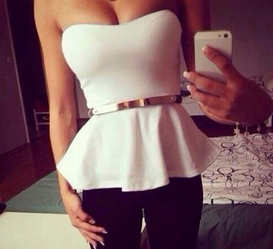 Simple Peplum Top - Juicy Wardrobe