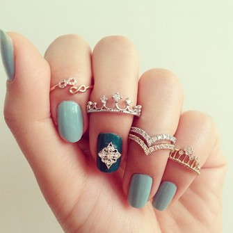 jewels middle ring knuckle ring the crown little finger ring cz crown knuckle ring cz rings the middle