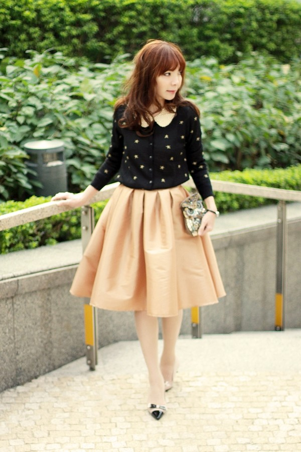 mochaccinoland skirt sweater bag shoes
